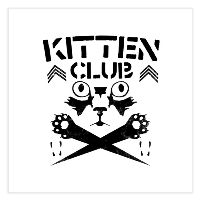 Kitten Club Black Home Fine Art Print by Stevie Richards Artist Shop