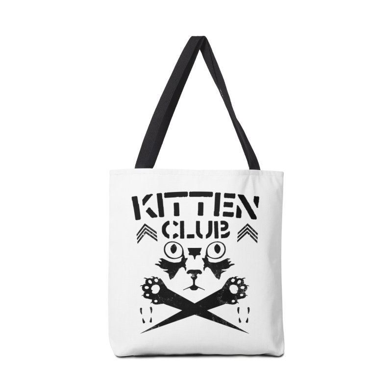 Kitten Club Black Accessories Tote Bag Bag by Stevie Richards Artist Shop