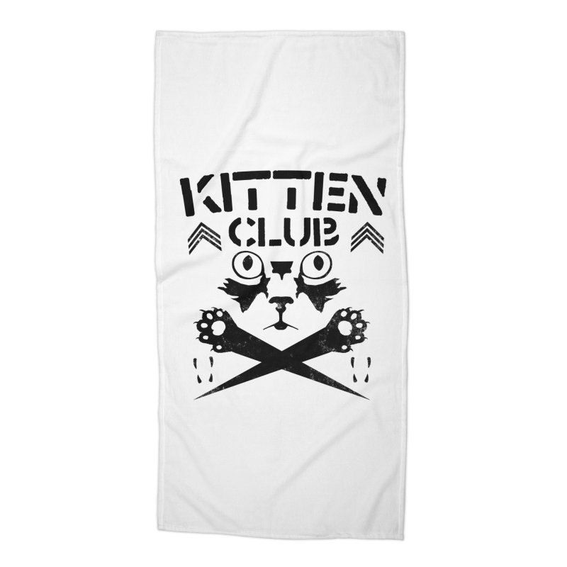 Kitten Club Black Accessories Beach Towel by Stevie Richards Artist Shop