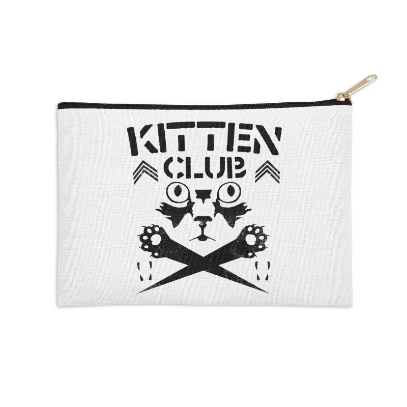 Kitten Club Black Accessories Zip Pouch by Stevie Richards Artist Shop