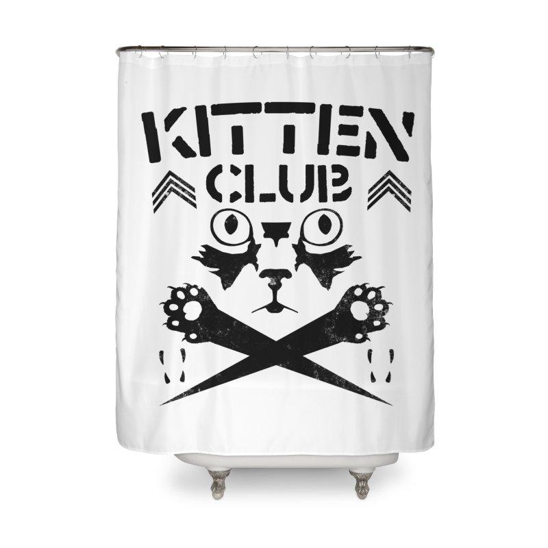 Kitten Club Black Home Shower Curtain by Stevie Richards Artist Shop