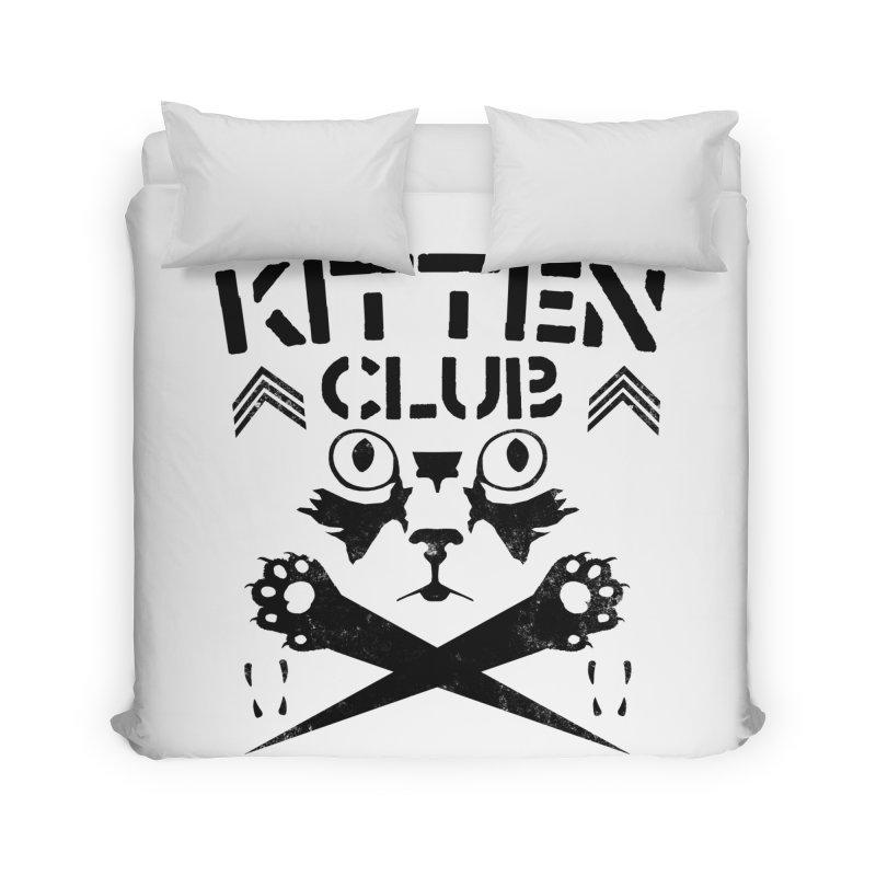 Kitten Club Black Home Duvet by Stevie Richards Artist Shop