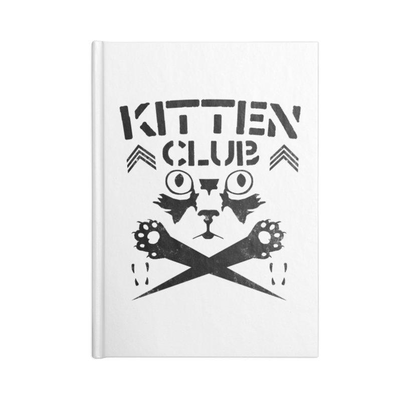 Kitten Club Black Accessories Lined Journal Notebook by Stevie Richards Artist Shop