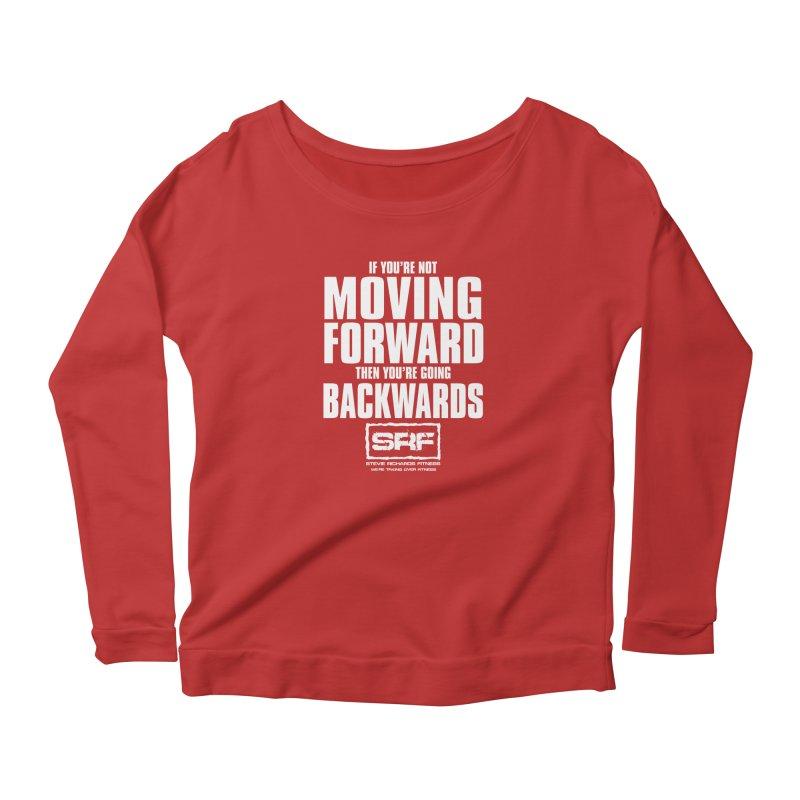 Moving Forwards Women's Longsleeve Scoopneck  by Stevie Richards Artist Shop