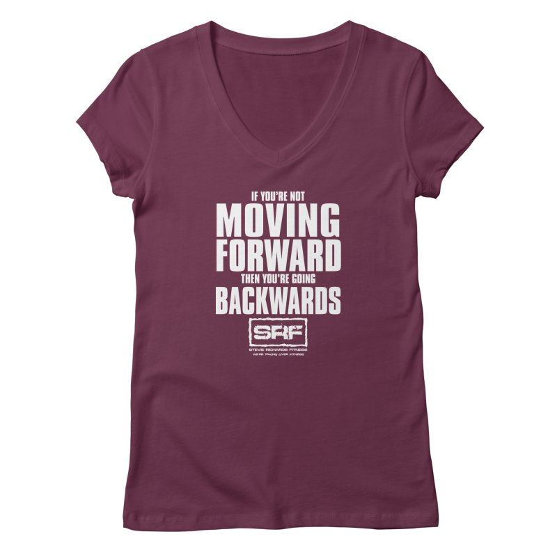 Moving Forwards Women's Regular V-Neck by Stevie Richards Artist Shop
