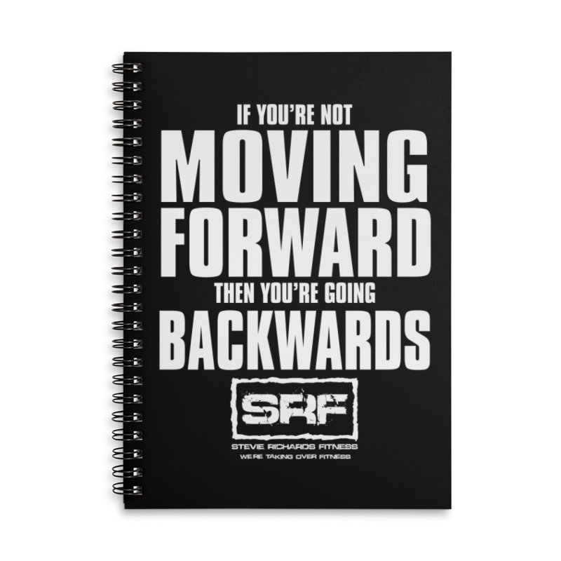 Moving Forwards Accessories Lined Spiral Notebook by Stevie Richards Artist Shop