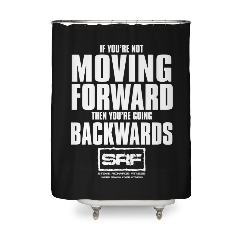 Moving Forwards Home Shower Curtain by Stevie Richards Artist Shop