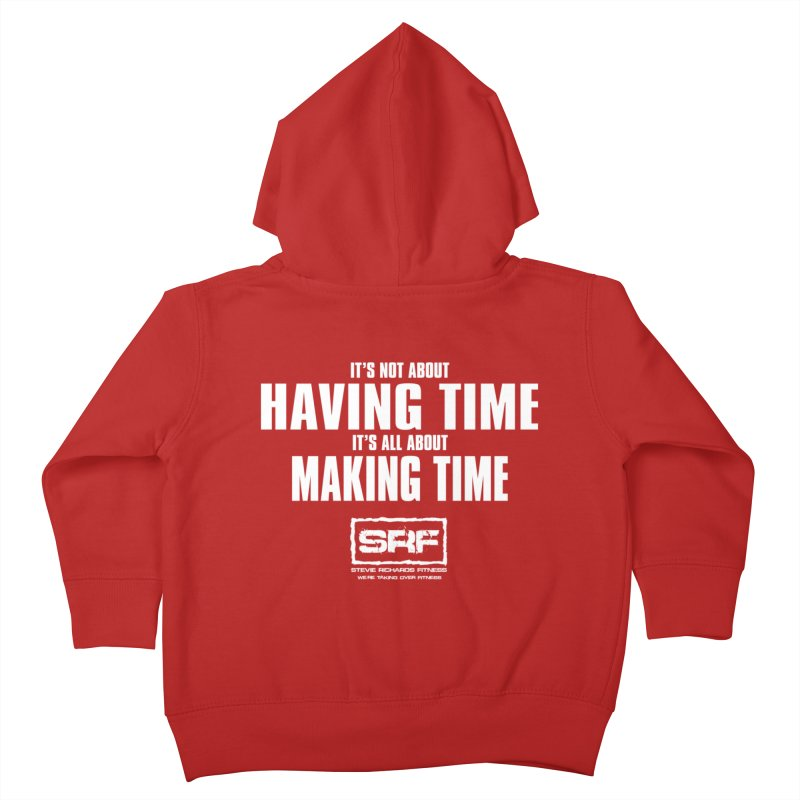 Make the time Kids Toddler Zip-Up Hoody by Stevie Richards Artist Shop