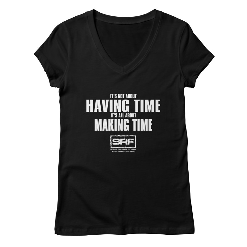 Make the time Women's V-Neck by Stevie Richards Artist Shop