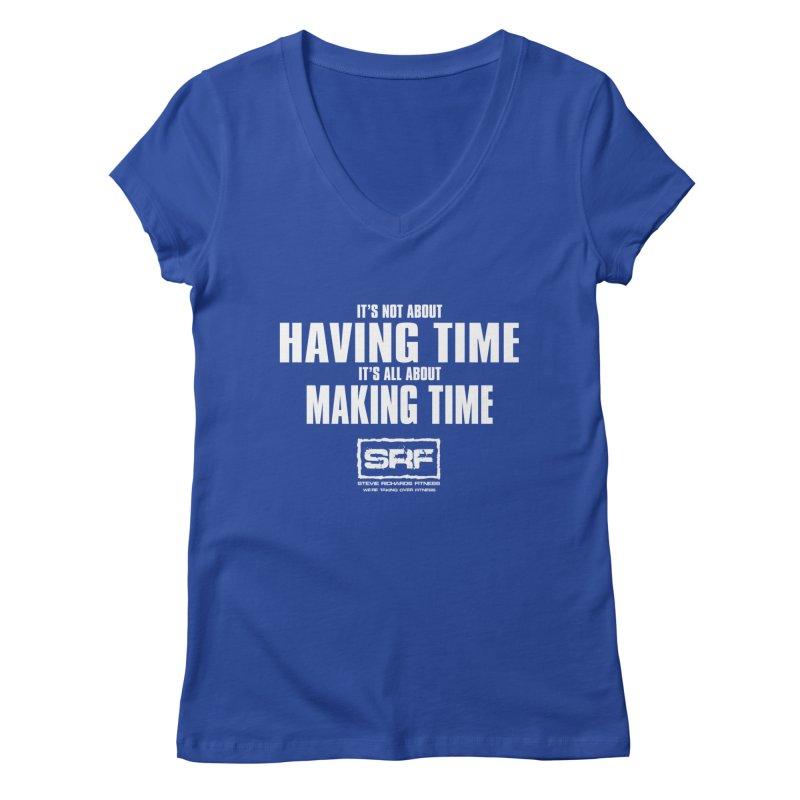 Make the time Women's Regular V-Neck by Stevie Richards Artist Shop