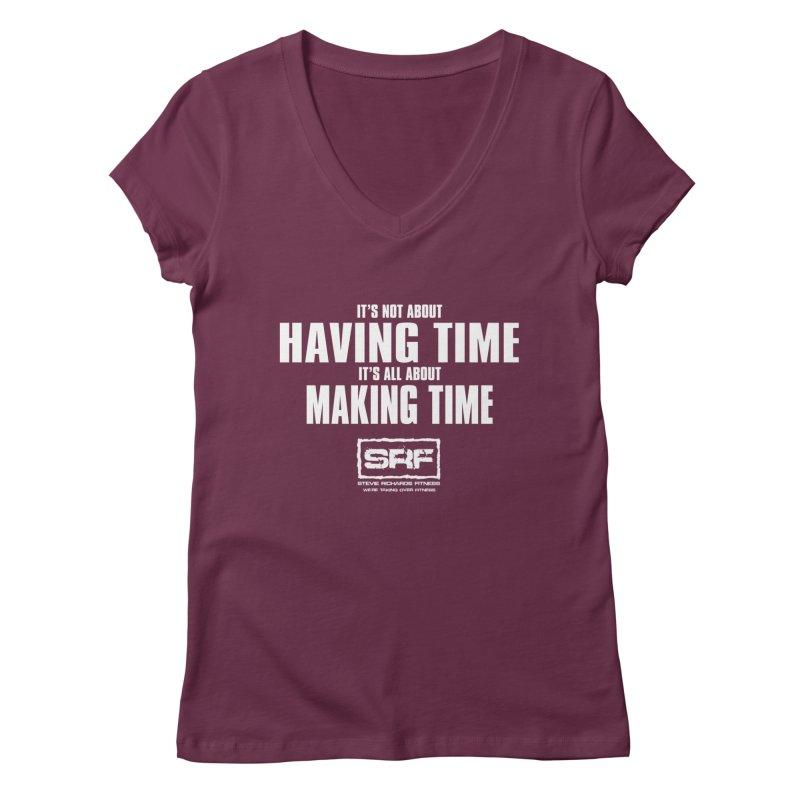 Make the time Women's V-Neck by Stevie Richards Artist Shop