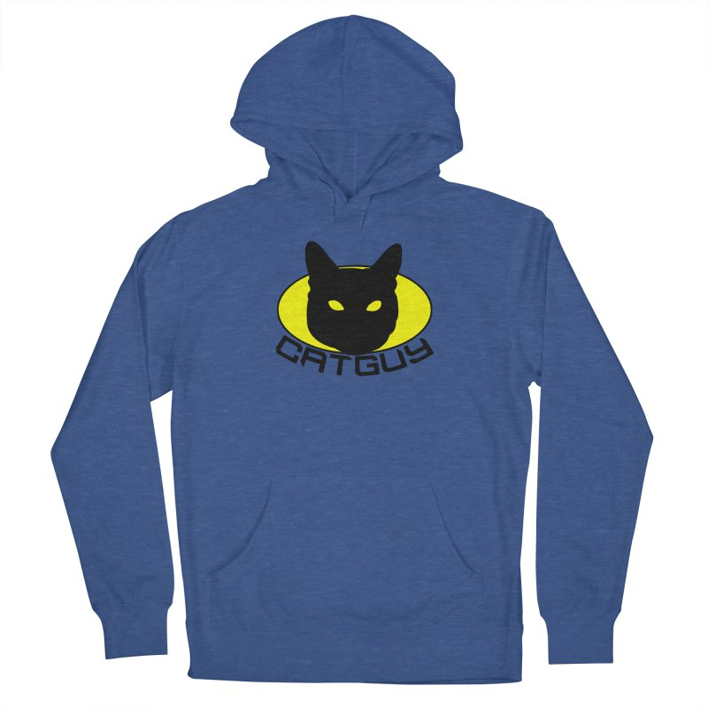 CAT-GUY! Men's French Terry Pullover Hoody by Stevie Richards Artist Shop