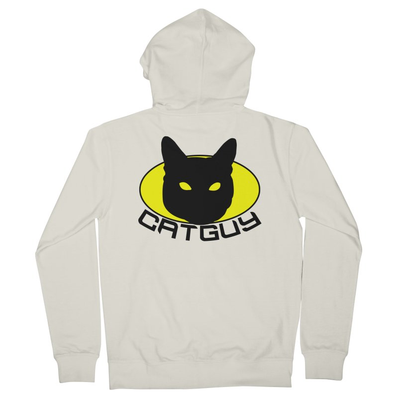 CAT-GUY! Men's French Terry Zip-Up Hoody by Stevie Richards Artist Shop