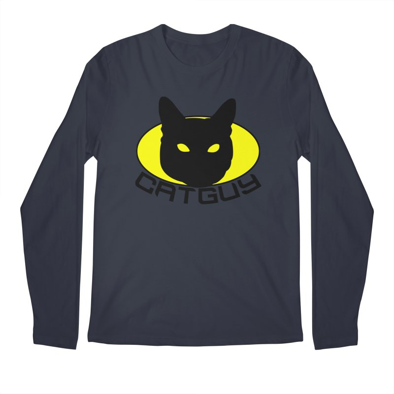 CAT-GUY! Men's Regular Longsleeve T-Shirt by Stevie Richards Artist Shop