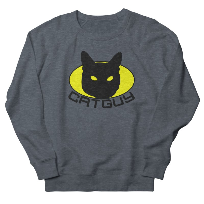 CAT-GUY! Women's French Terry Sweatshirt by Stevie Richards Artist Shop