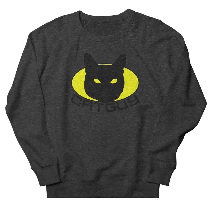 CAT-GUY! Men's French Terry Sweatshirt by Stevie Richards Artist Shop
