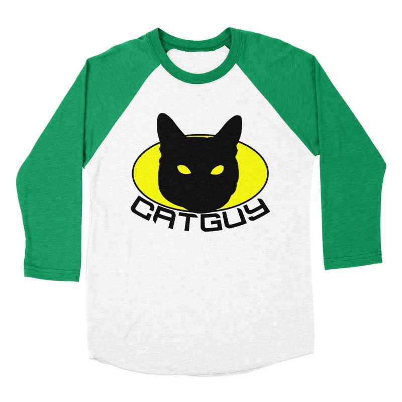 CAT-GUY! Women's Baseball Triblend Longsleeve T-Shirt by Stevie Richards Artist Shop