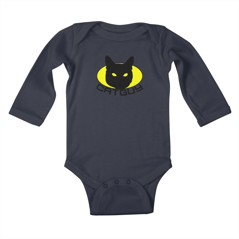 CAT-GUY! Kids Baby Longsleeve Bodysuit by Stevie Richards Artist Shop