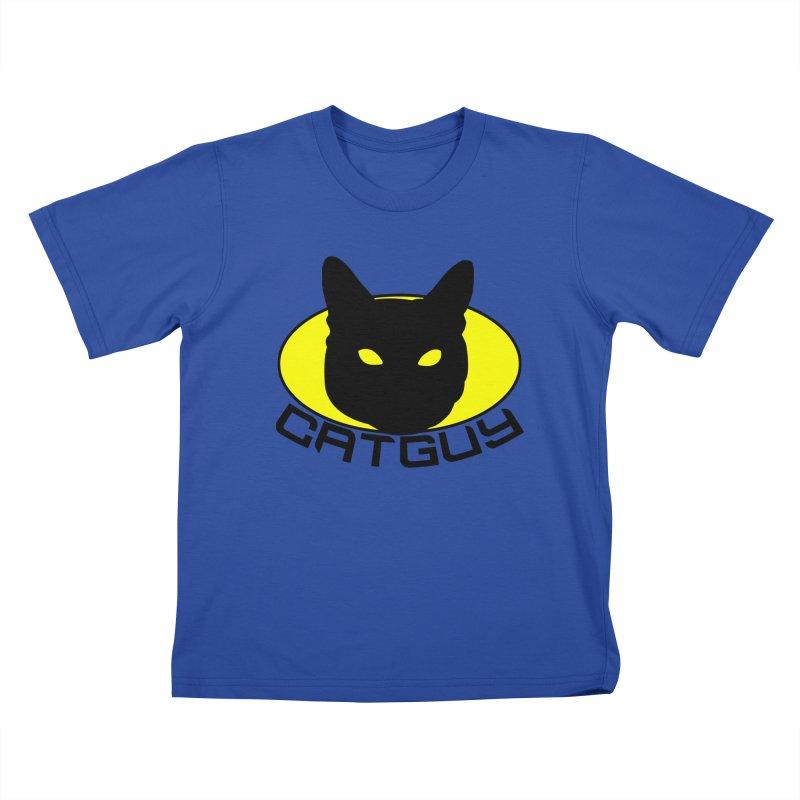 CAT-GUY! Kids T-Shirt by Stevie Richards Artist Shop