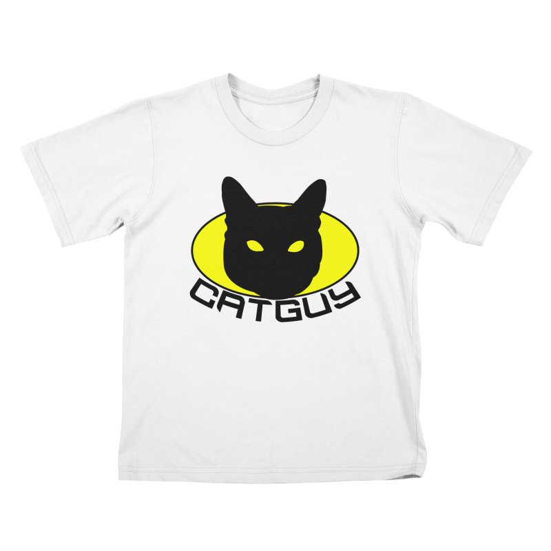 CAT-GUY! Kids T-Shirt by Stevie Richards Artist Shop