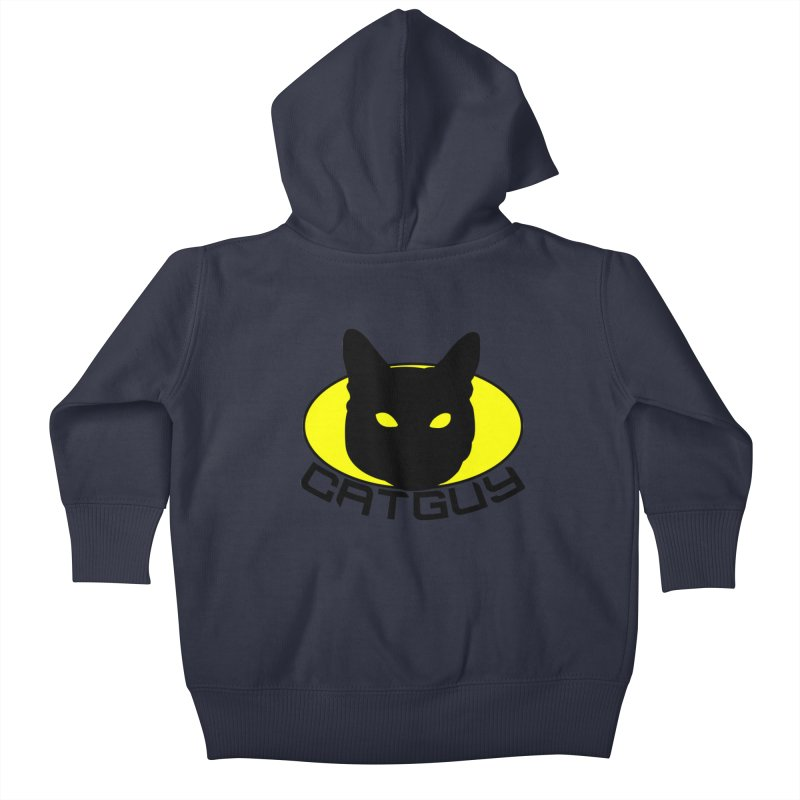 CAT-GUY! Kids Baby Zip-Up Hoody by Stevie Richards Artist Shop