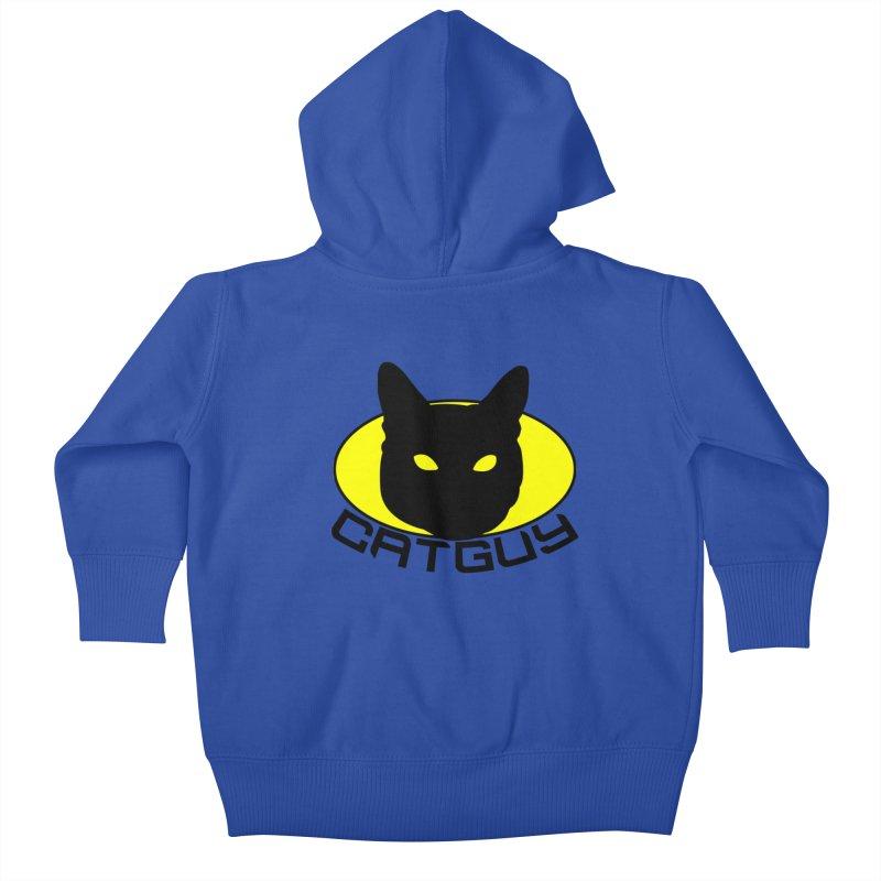 CAT-GUY! Kids Baby Zip-Up Hoody by Stevie Richards Artist Shop