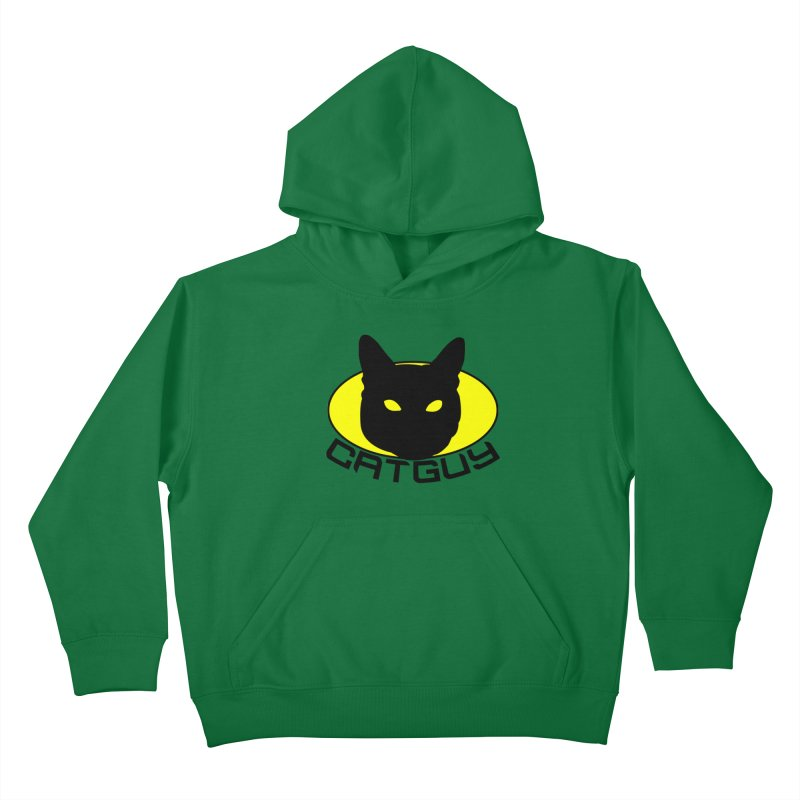 CAT-GUY! Kids Pullover Hoody by Stevie Richards Artist Shop