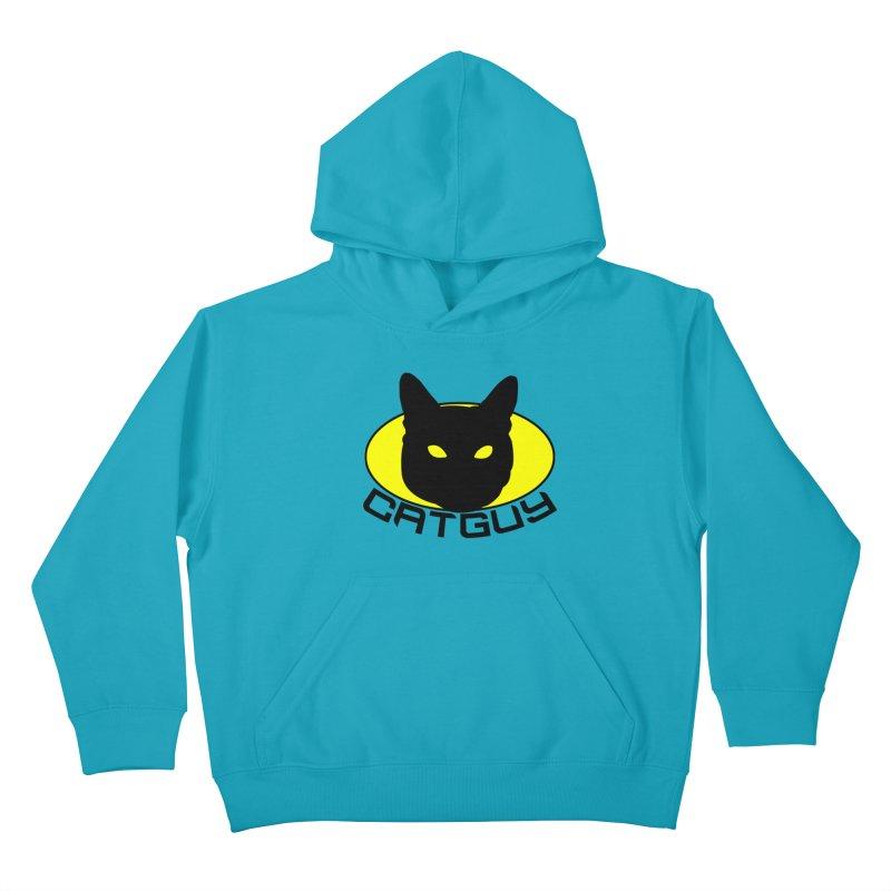 CAT-GUY! Kids Pullover Hoody by Stevie Richards Artist Shop