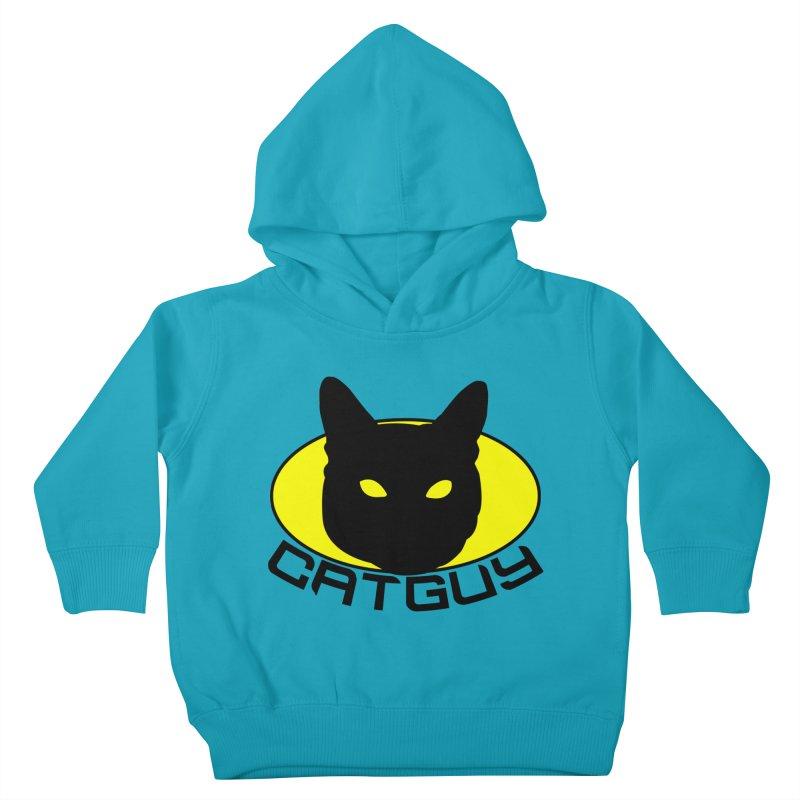 CAT-GUY! Kids Toddler Pullover Hoody by Stevie Richards Artist Shop