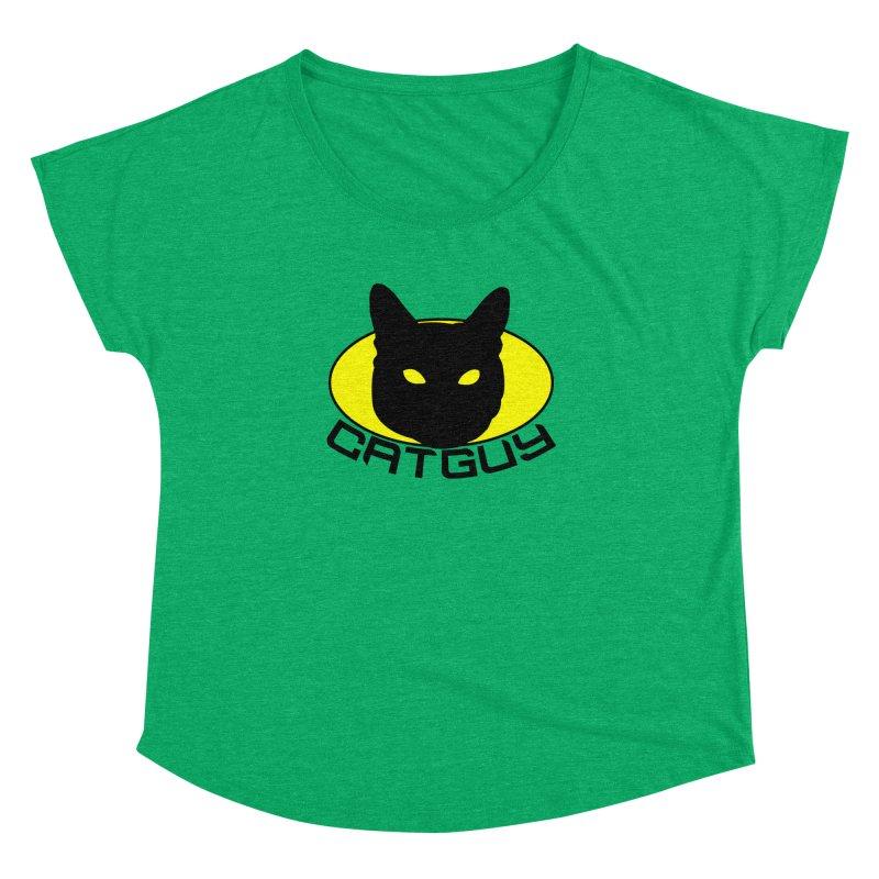 CAT-GUY! Women's Dolman Scoop Neck by Stevie Richards Artist Shop