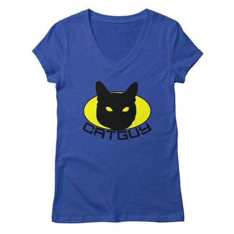 CAT-GUY! Women's Regular V-Neck by Stevie Richards Artist Shop