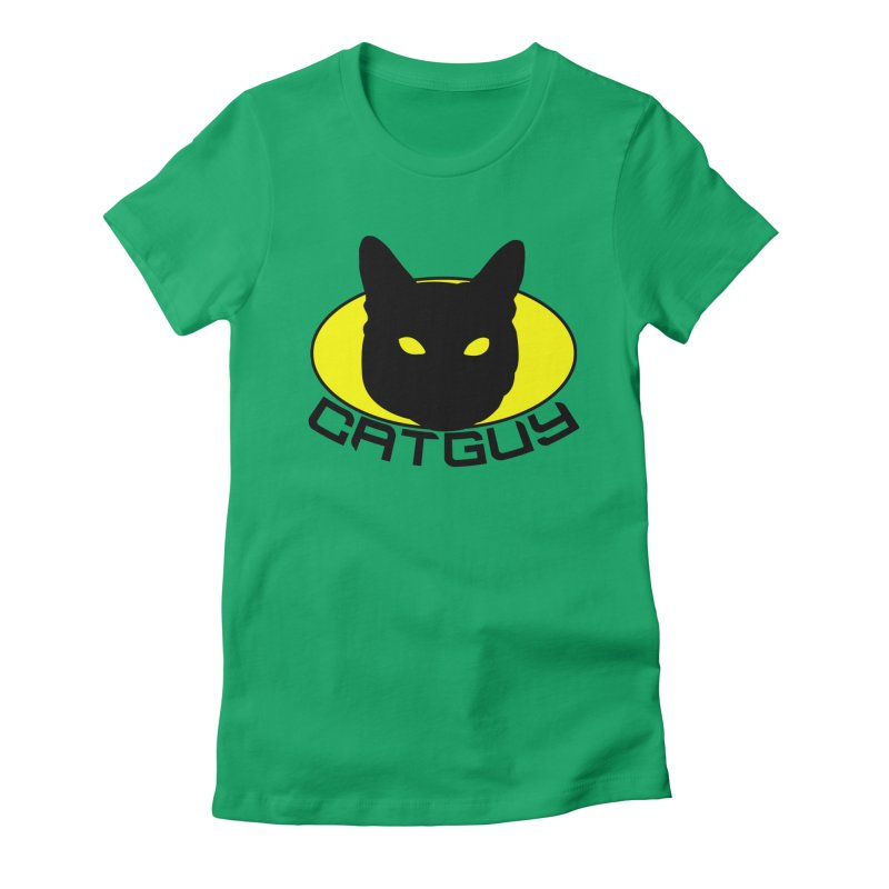 CAT-GUY! Women's Fitted T-Shirt by Stevie Richards Artist Shop