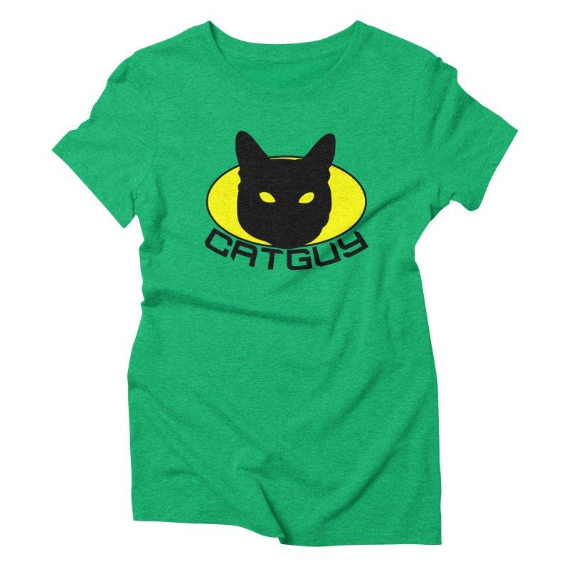 CAT-GUY! Women's Triblend T-Shirt by Stevie Richards Artist Shop