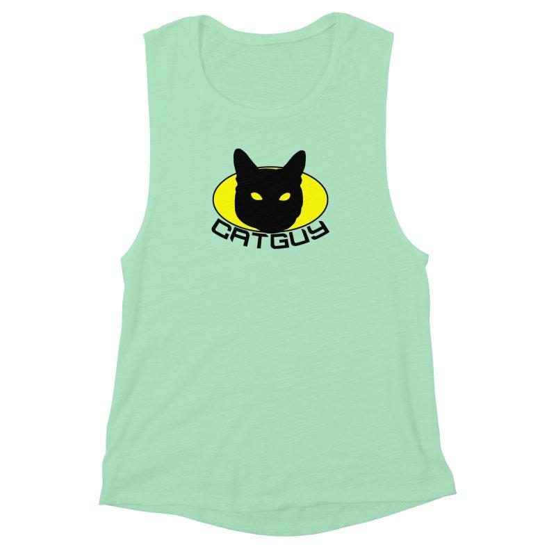 CAT-GUY! Women's Muscle Tank by Stevie Richards Artist Shop