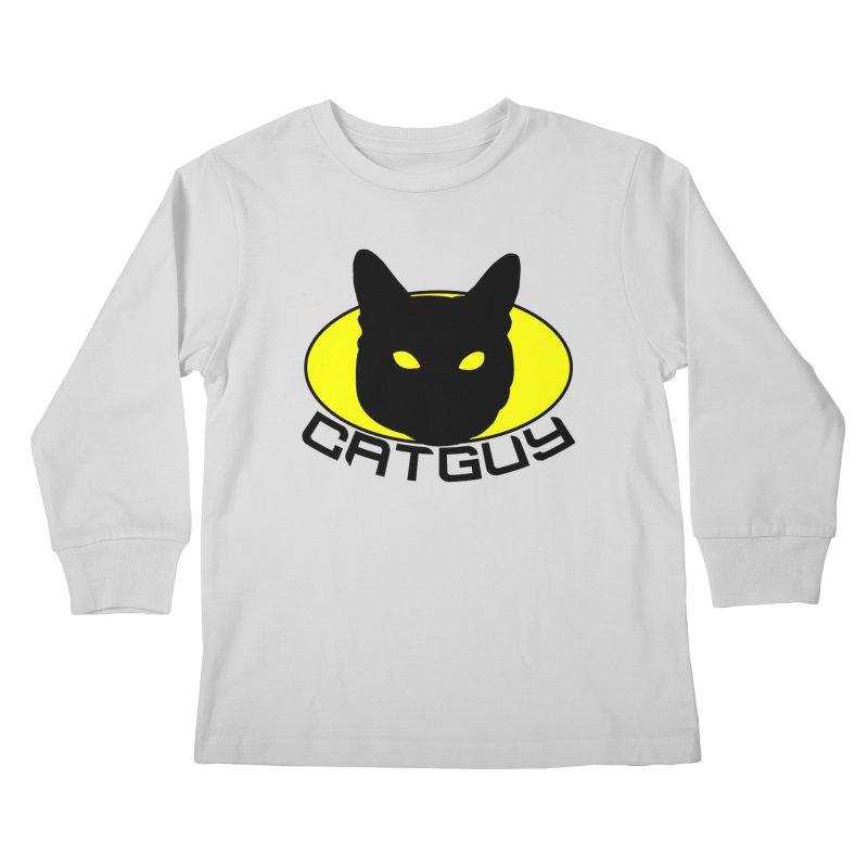 CAT-GUY! Kids Longsleeve T-Shirt by Stevie Richards Artist Shop