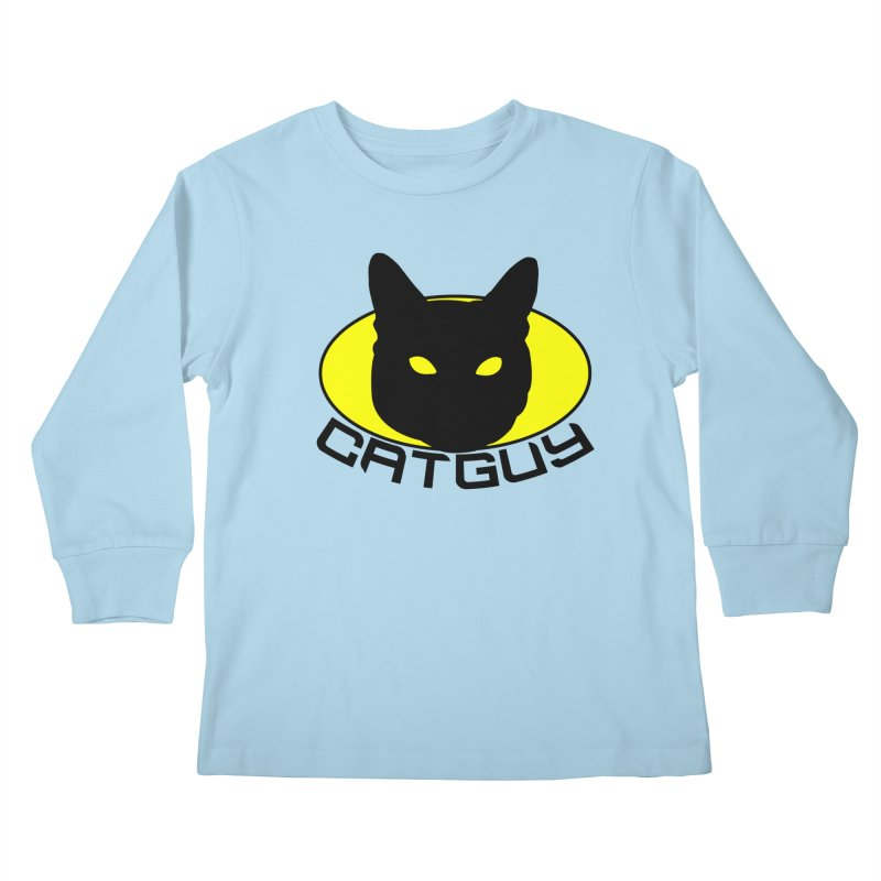CAT-GUY! Kids Longsleeve T-Shirt by Stevie Richards Artist Shop