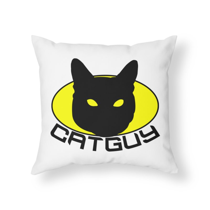 CAT-GUY! Home Throw Pillow by Stevie Richards Artist Shop