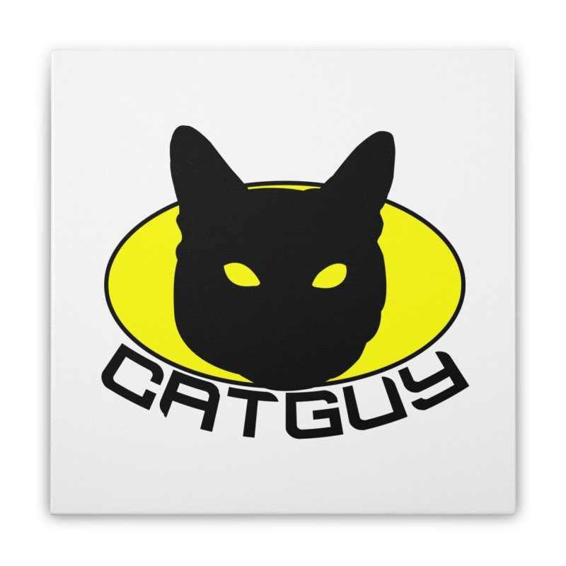 CAT-GUY! Home Stretched Canvas by Stevie Richards Artist Shop