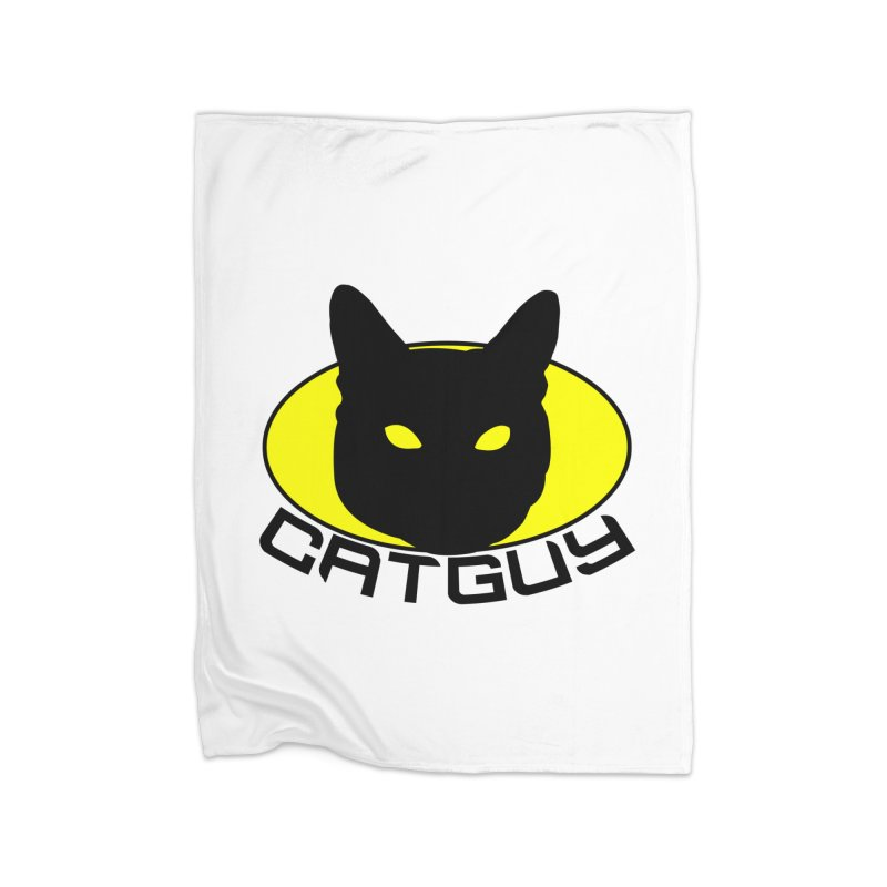 CAT-GUY! Home Fleece Blanket Blanket by Stevie Richards Artist Shop