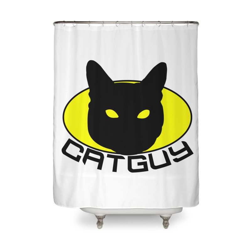 CAT-GUY! Home Shower Curtain by Stevie Richards Artist Shop