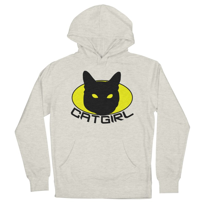 CAT-GIRL! Women's French Terry Pullover Hoody by Stevie Richards Artist Shop