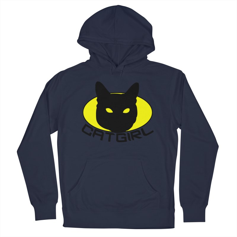 CAT-GIRL! Men's French Terry Pullover Hoody by Stevie Richards Artist Shop