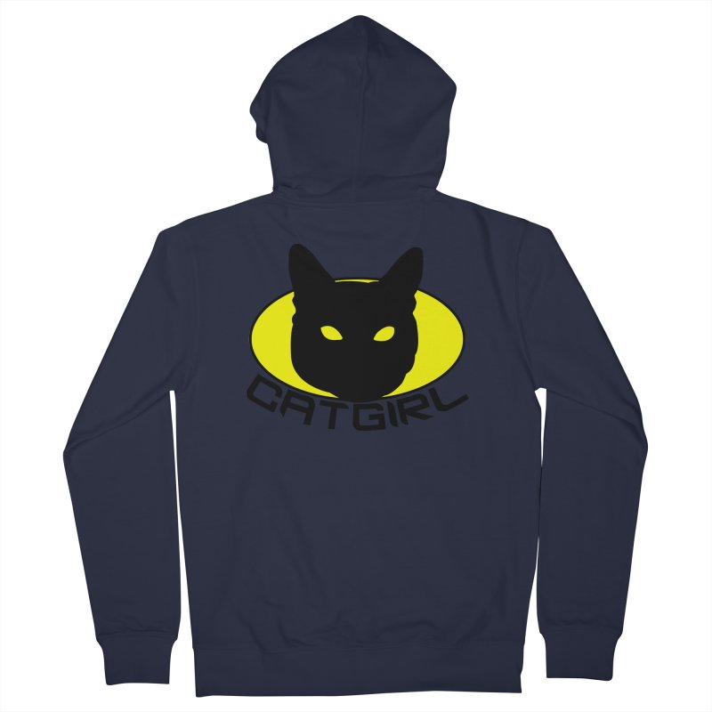 CAT-GIRL! Men's French Terry Zip-Up Hoody by Stevie Richards Artist Shop