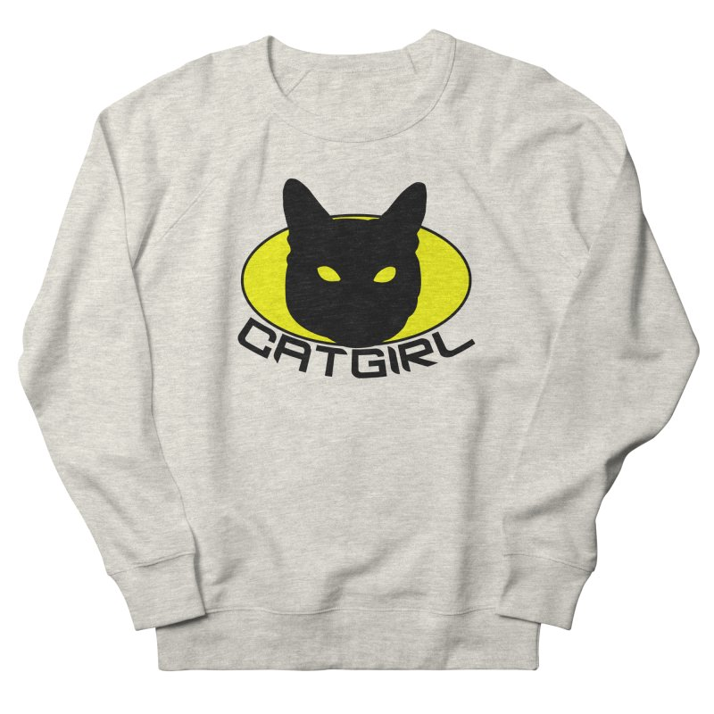 CAT-GIRL! Women's French Terry Sweatshirt by Stevie Richards Artist Shop