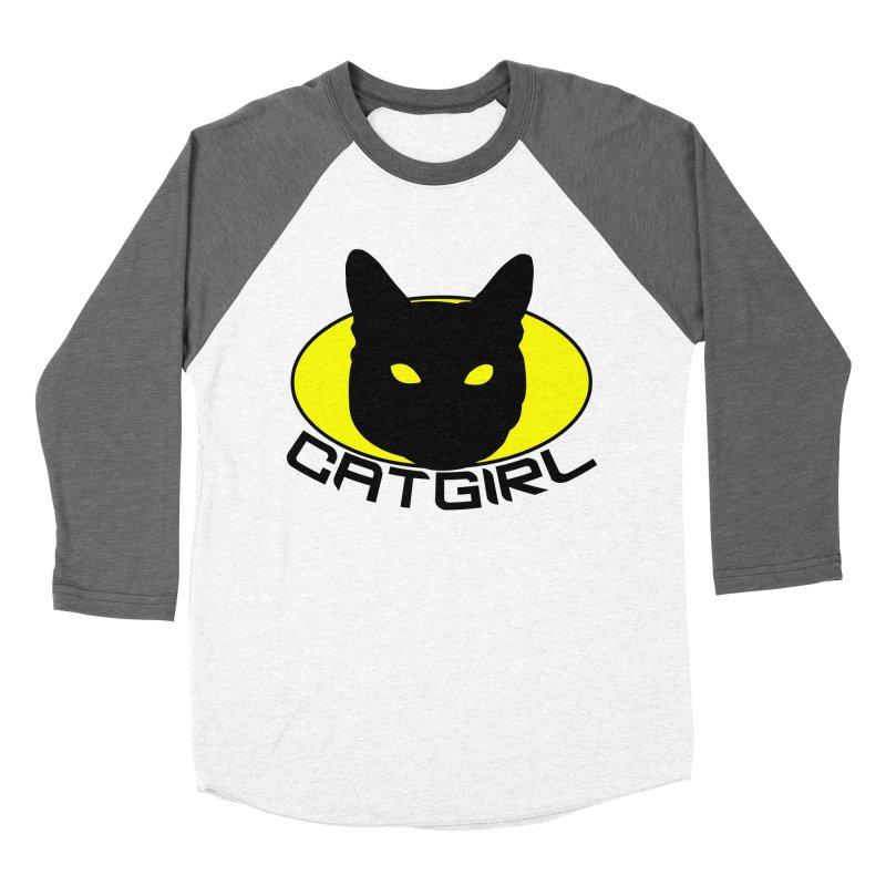 CAT-GIRL! Women's Baseball Triblend Longsleeve T-Shirt by Stevie Richards Artist Shop