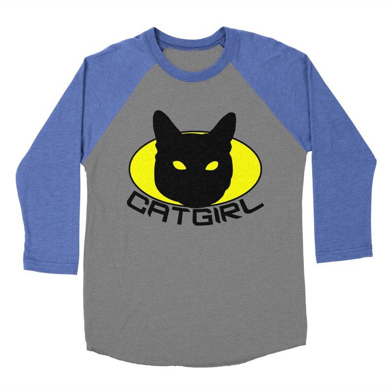 CAT-GIRL! Women's Baseball Triblend T-Shirt by Stevie Richards Artist Shop