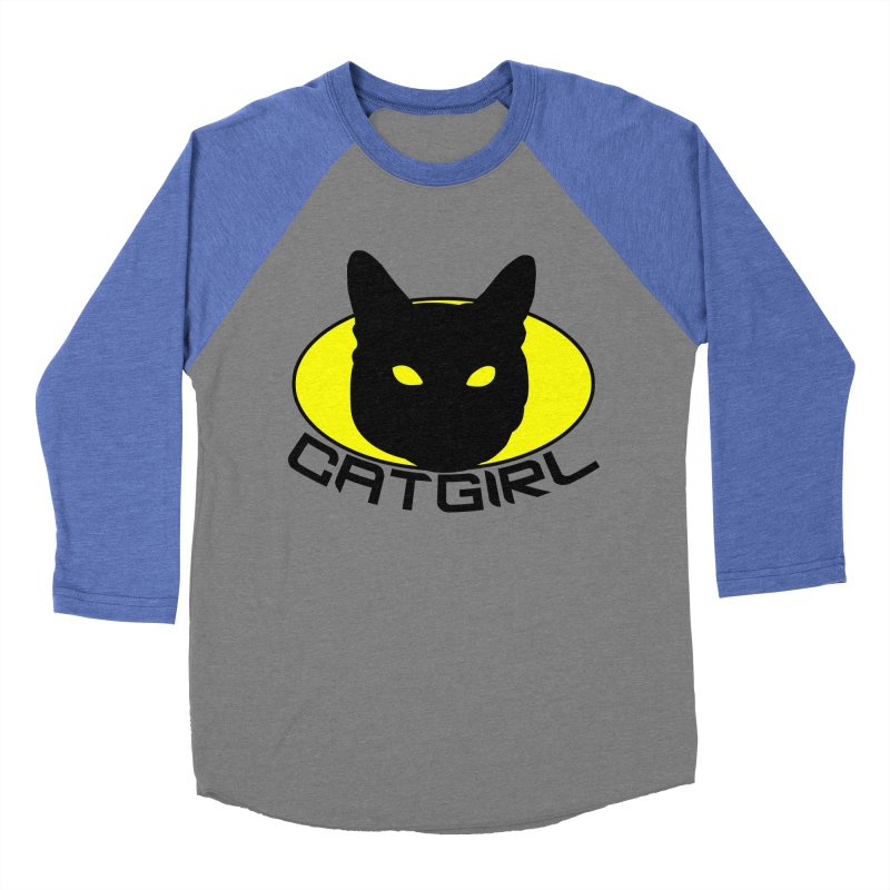CAT-GIRL! Men's Baseball Triblend Longsleeve T-Shirt by Stevie Richards Artist Shop