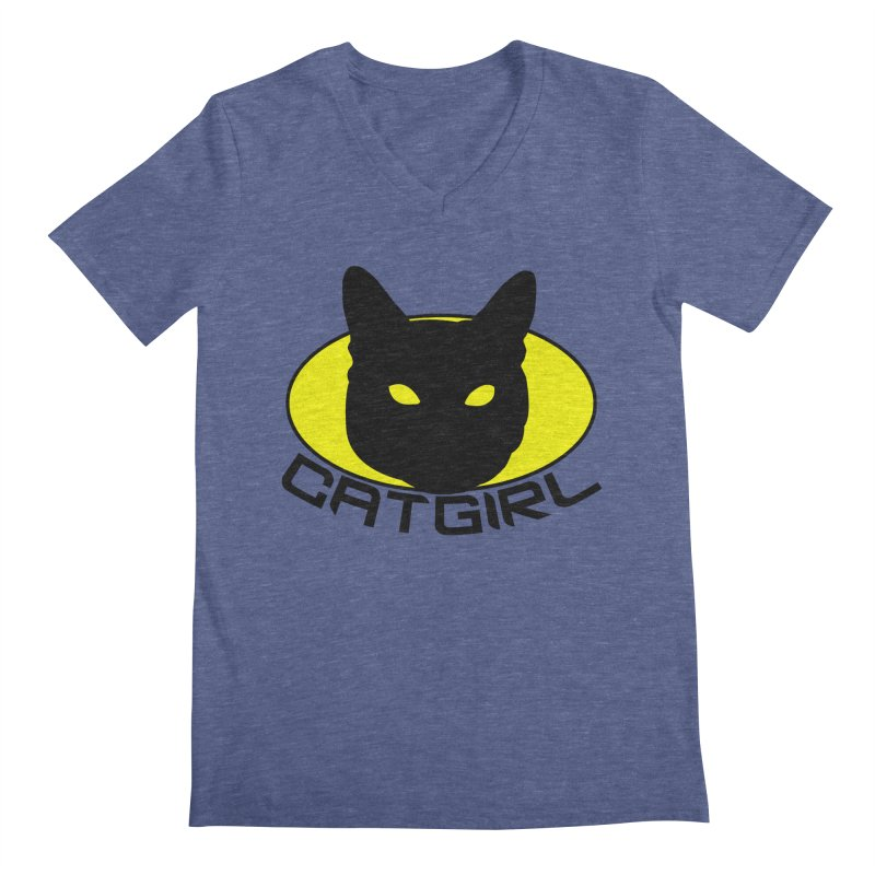 CAT-GIRL! Men's Regular V-Neck by Stevie Richards Artist Shop