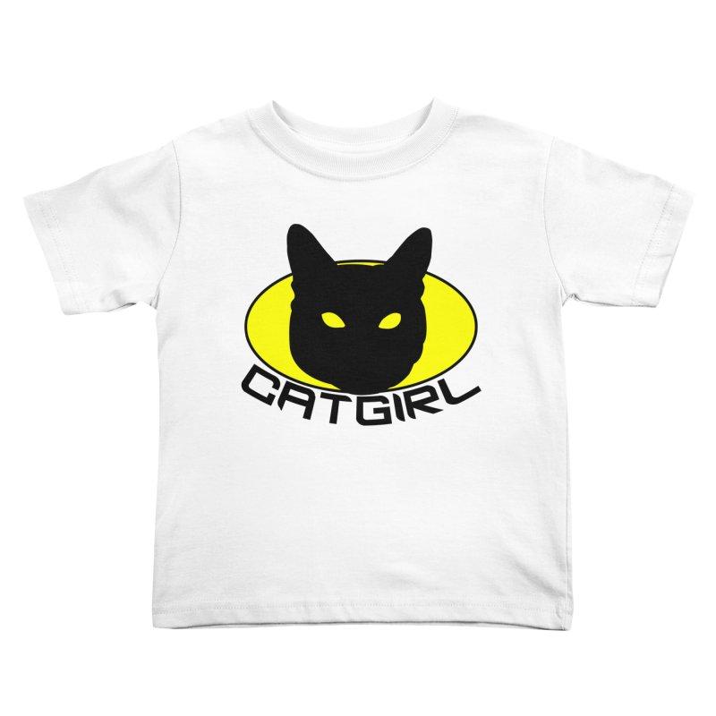 CAT-GIRL! Kids Toddler T-Shirt by Stevie Richards Artist Shop