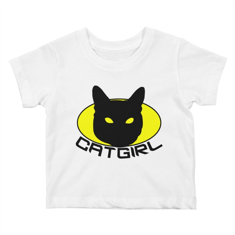 CAT-GIRL! Kids Baby T-Shirt by Stevie Richards Artist Shop